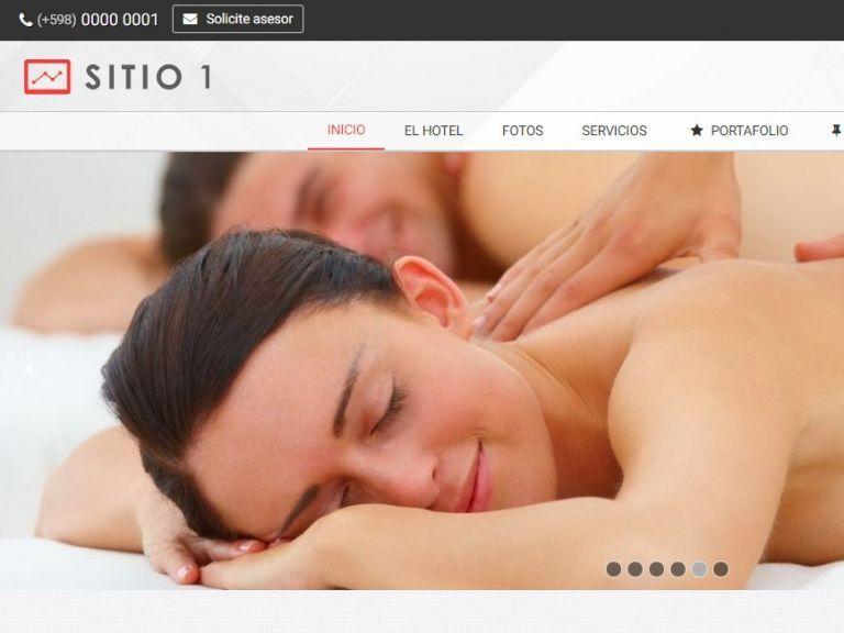 Plantilla demo diseño de sitio web para hotel alojamiento. - HOTEL 1 . Diseño sitio web institucional