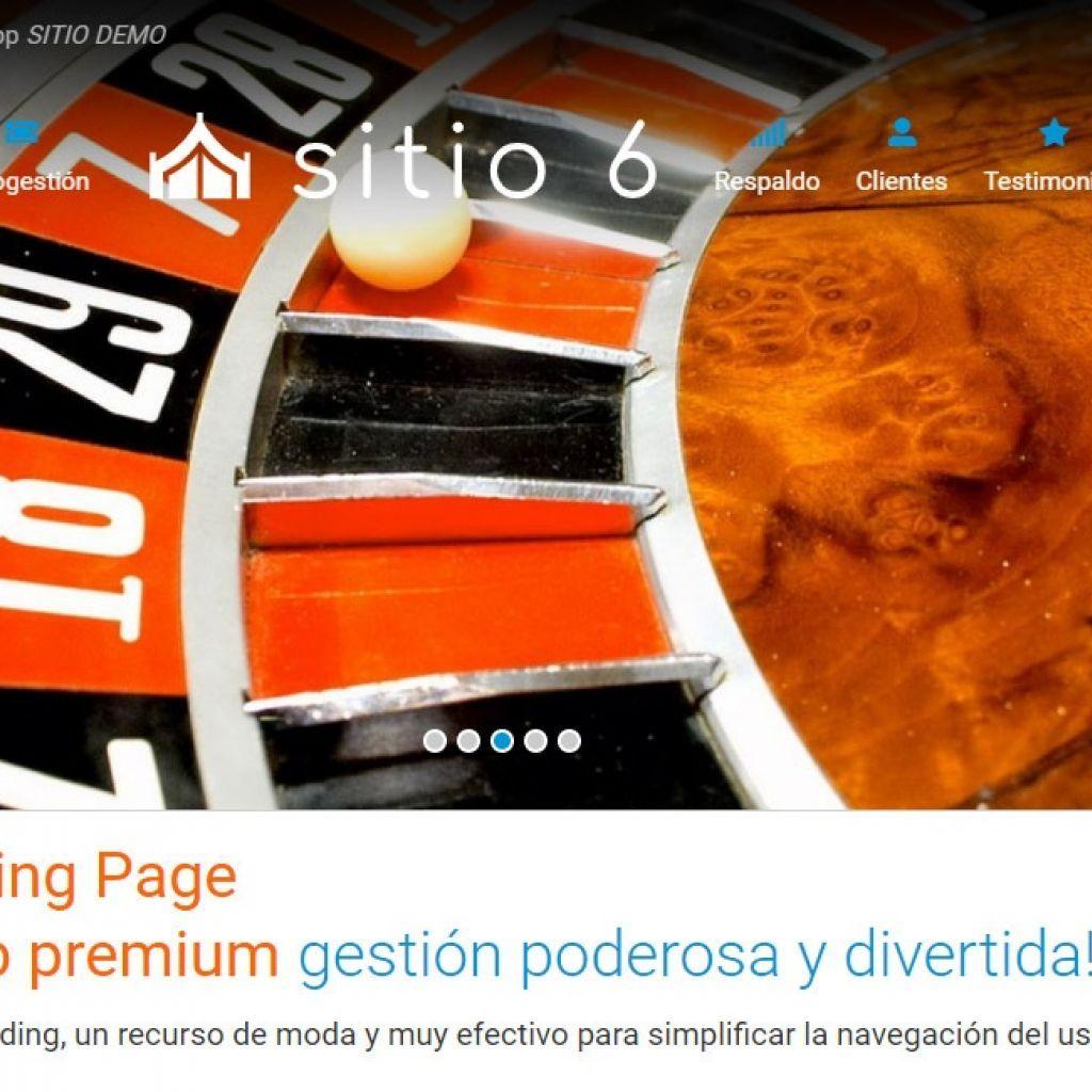 Template de diseño de página landing page ejemplo 6.